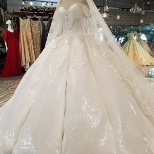 Sequins Wedding ball gown